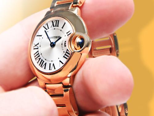 Cartier 18k Gold Watch 18k Rose Gold Ladies Watch