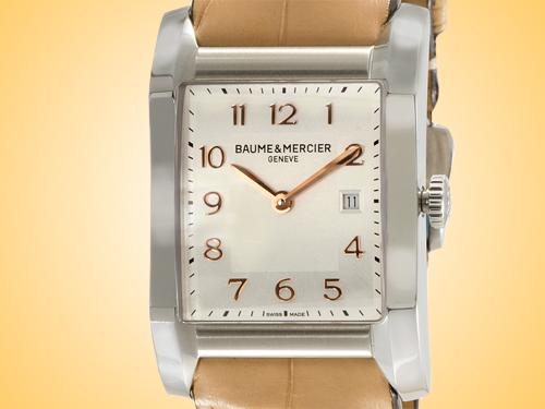 Baume & Mercier Hampton Silver Dial Quartz Stainless Steel Unisex Watch MOA10081