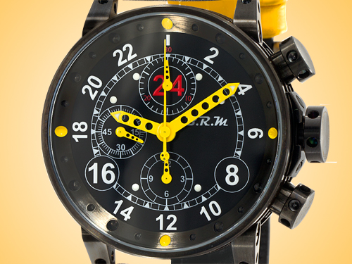 B.R.M Automatic Chronograph Black PVD-coated Stainless Steel Men's Watch V12-44-24H-AJ