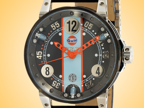 B.R.M Gulf Edition Automatic Black PVD-coated Stainless Steel Men's Watch V6-44-SA-SQ-GULF