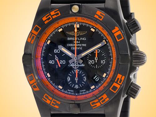 Breitling Chronomat 44 Raven Automatic Chronograph Blacksteel Special Series Men's Watch MB0111C2-BD07-153S