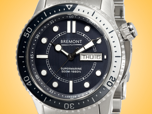Bremont Supermarine 500 Automatic Stainless Steel Men's Watch S500/BL/BR