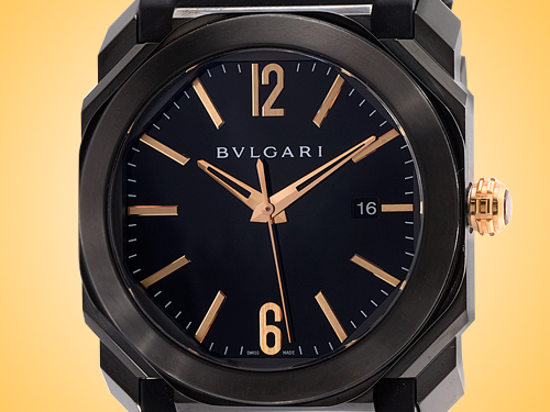 Bvlgari Octo L'Originale Automatic Diamond Like Carbon-treated Stainless Steel Men's Watch 102581