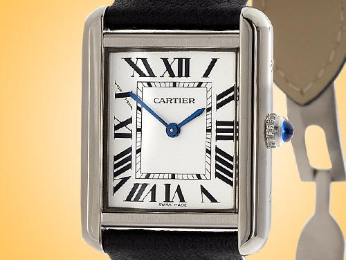 Cartier Tank Solo Quartz Stainless Steel Ladies Watch WSTA0030