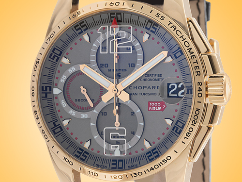 Chopard Mille Miglia Gran Turismo Automatic Chronograph 18K Rose Gold Limited-edition Men's Watch 161268-5001