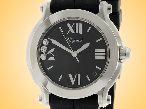 Chopard Happy Sport Round Ladies Quartz Stainless Steel Watch 278475-3014