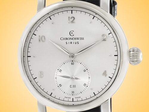 Chronoswiss Sirius Manufacture Hand-wound Stainless Steel Men's Watch CH-1023