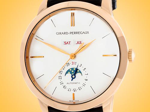 Girard Perregaux 1966 Full Calendar Automatic 18K Rose Gold Men's Watch 49535-52-151-BK6A