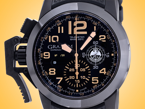 GRAHAM Chronofighter Special Sniper Limited-edition Automatic Black PVD Stainless Steel Chronograph Men's Watch 2CCAU.B34A