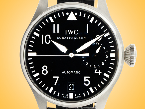 IWC Big Pilot 7-Day Power Reserve Black Dial Automatic Stainless Steel Men's Watch 5004-01