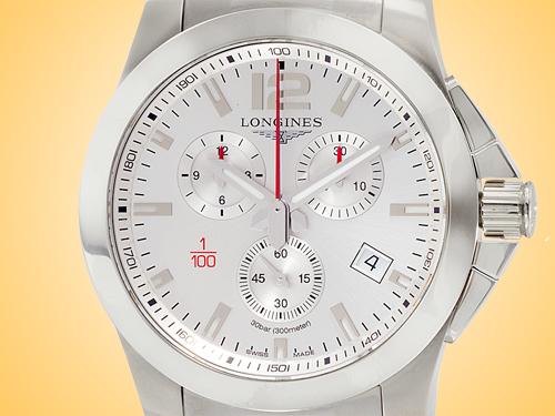 Longines Conquest Quartz Chronograph Stainless Steel Men's Watch L3.800.4.76.6