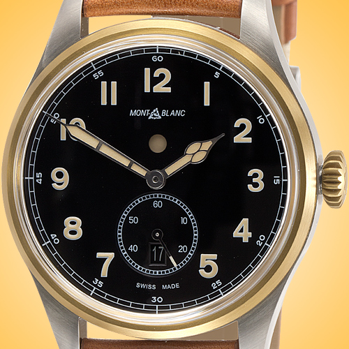 Montblanc 1858 Collection Dual Time Automatic Stainless Steel / Bronze Men's Watch 116479
