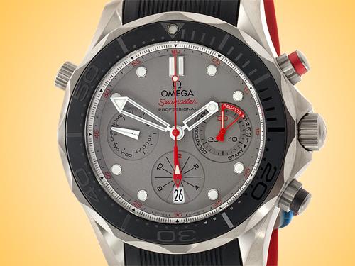 Omega Seamaster Diver 300M ETNZ Co-Axial Automatic Chronograph Titanium Men's Watch 212.92.44.50.99.001