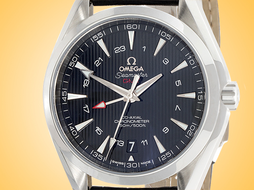 Omega Seamaster Aqua Terra 150M Co-Axial Chronometer GMT Automatic Stainless Steel Men's Watch 231.13.43.22.01.001