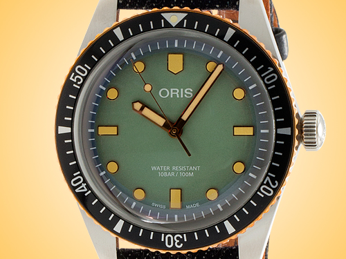 Oris Divers Sixty-Five Momotaro Jeans Special Edition Automatic Stainless Steel Men's Watch 733 7707 4337-SET