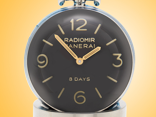 Officine Panerai Radiomir Stainless Steel Manually Wound Table Clock PAM00581