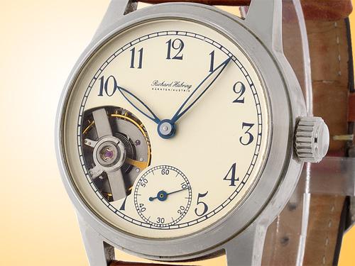 "Richard Habring Manual Wind 2000 ""Sporttourbillon"" # 14 Stainless Steel Watch"