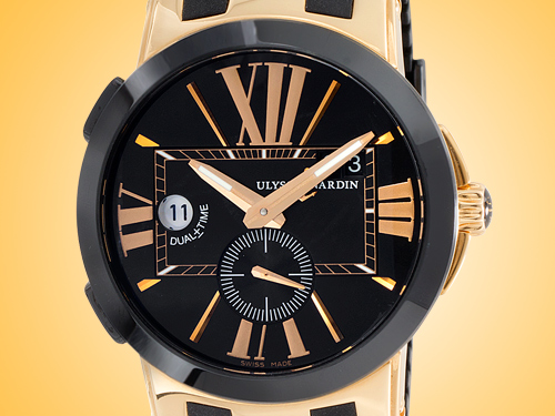 Ulysse Nardin Executive Dual Time 43 mm 18K Rose Gold Automatic Men's Watch 246-00-3/42