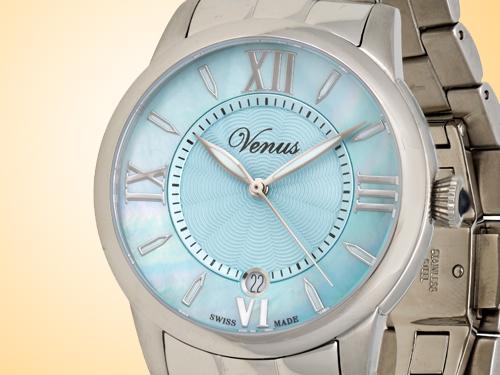 VENUS of Switzerland Impetus Collection Date Ladies Watch Model: VE-3116A1-4R9-B1