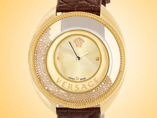 Versace Destiny Spirit Yellow Gold-tone Stainless Steel Ladies Watch Model: VAR080017