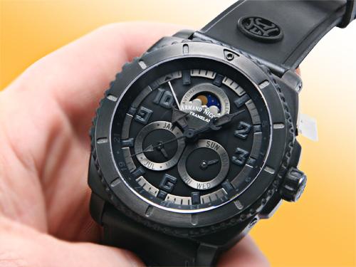 Armand Nicolet S05 Complete Calendar Phantom Titanium Watch T612N-NR-G9610
