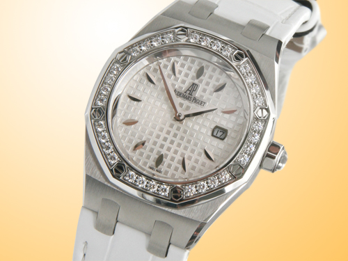 Audemars Piguet Lady Royal Oak Quartz Stainless Steel / Diamonds Watch