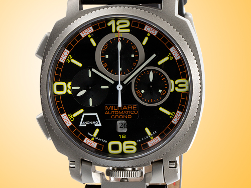 Anonimo Militare Chrono Automatic Stainless Steel Men's Watch Model 2027.03.401
