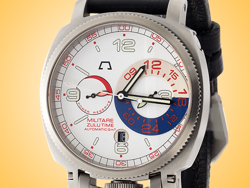 Anonimo Militare Zulu (Dual) Time Automatic Stainless Steel Men's Watch Model 2014