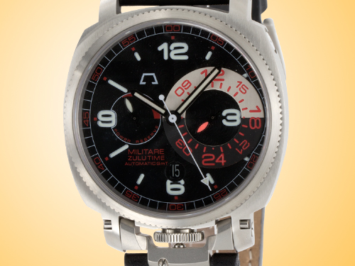 Anonimo Militare Zulu (Dual) Time Automatic Stainless Steel Men's Watch