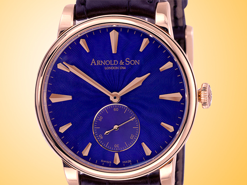 Arnold & Son HMS1 Royal Blue 18K Rose Gold Manual Wind Men's Watch 1LCAP.U02A.C11A