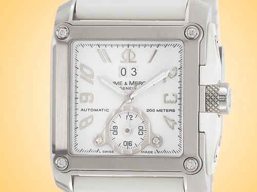 Baume & Mercier Hampton Magnum XL Dual Time Automatic Watch M0A08839
