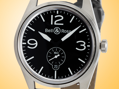 Bell & Ross Original Satin Steel Automatic Men�s Watch BR-123-BLACK