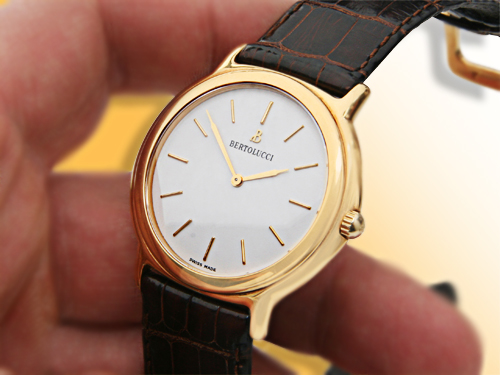 Bertolucci Classic Manual Wind 18K Yellow Gold Men�s Watch
