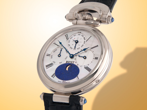 Bovet Fleurier Complications Perpetual Calendar Men�s Automatic 18K White Gold Watch CP 0037