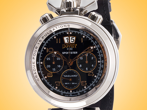 Bovet Sportster Saguaro Big Date Chronograph Automatic Stainless Steel Men's Watch Model: SP0400