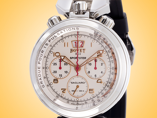Bovet Sportster Saguaro Big Date Chronograph Automatic Stainless Steel Men's Watch Model: SP0415-MA
