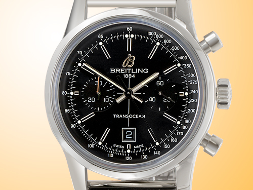 Breitling Transocean Chronograph 38 Men's Automatic Stainless Steel Watch A4131012-BC06-171A
