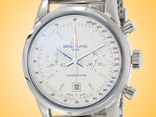 Breitling Transocean Chronograph 38 mm Automatic Stainless Steel Watch A4131012/G757-171A