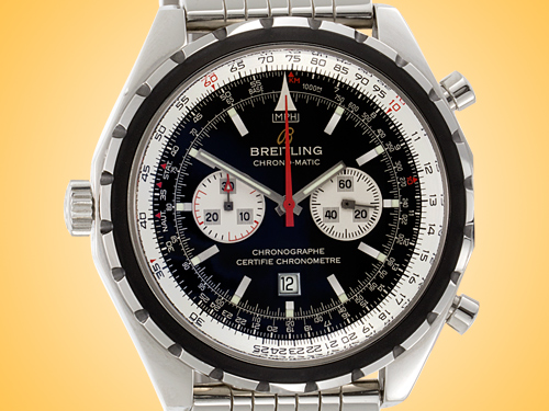 Breitling Chrono-Matic Chronograph Stainless Steel Men's Watch A41360