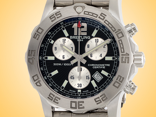 Breitling Aeromarine Colt 44 Chronograph II Stainless Steel Watch A7338710/BB49-157A