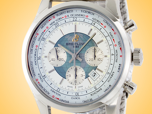 Breitling Transocean Automatic Chronograph Unitime Stainless Steel Men's Watch AB0510U0/A732-152A