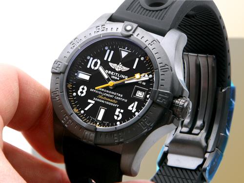Breitling Avenger SeaWolf Blacksteel Code Yellow Watch
