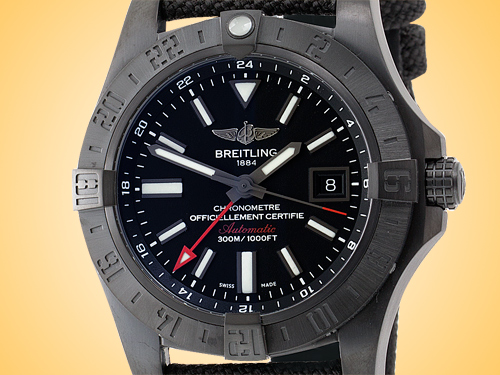 Breitling Avenger II GMT Automatic Blacksteel Men's Watch M3239010/BF04-109W
