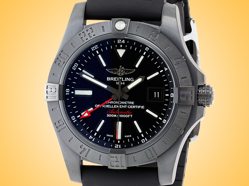 Breitling Avenger II GMT Automatic Blacksteel Men's Watch M3239010/BF04-153S