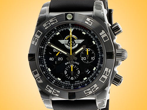Breitling Chronomat 44 Jet Team Automatic Chronograph Blacksteel Men's Watch MB01109L/BD48-153S
