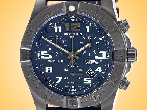 Breitling Chronospace Evo Night Mission Men's SuperQuartz Breitling Black Titanium Watch V7333010/C939-158S