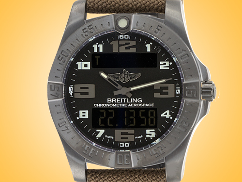 Breitling Aerospace EVO Night Mission Multifunctional Black Titanium Men's Watch V7936310-BD60-108W