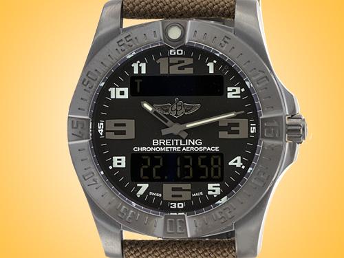 Breitling Aerospace EVO Night Mission Multifunctional Black Titanium Men's Watch V7936310-BD60-108W