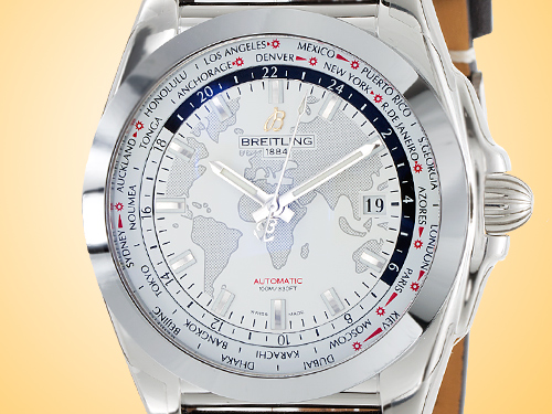 Breitling Galactic Unitime Automatic Stainless Steel Men's Watch WB3510U0/A777-435X