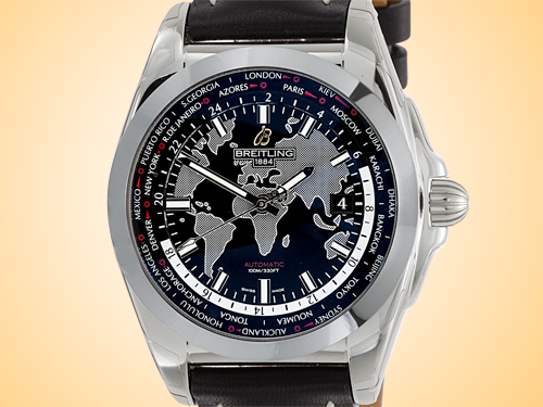 Breitling Galactic Unitime Automatic Stainless Steel Men's Watch WB3510U4/BD94-435X
